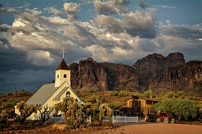 Photograph - The Little Chapel In The Superstitions  by Saija Lehtonen