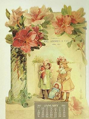 Painting - The Little Doll Girls Calendar by Reynold Jay