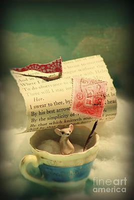Vignette Digital Art - The Little Dreamer by Aimee Stewart