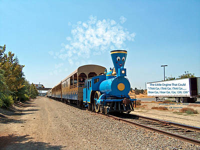 Locamotive Photograph - The Little Engine That Could by Carl Deaville