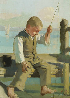 Painting - The Little Fisherman by Ferdinand Hodler