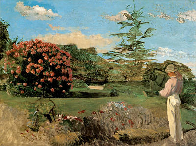 Photograph - The Little Gardener by Frederic Bazille