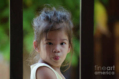 Photograph - The Little Girl With A Sharp Tongue by Michelle Meenawong