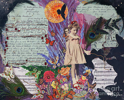 Mixed Media - The Little Girl Wore Red Shoes by Stanza Widen