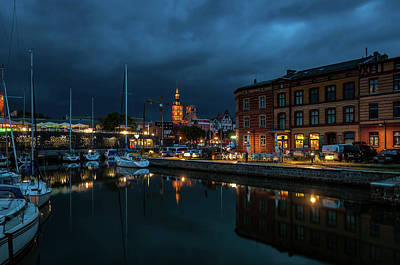 Photograph - The Little Harbor In Stralsund by Martina Thompson