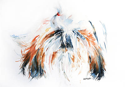 Shih Tzu Painting - The Little Horror by Stephie Butler
