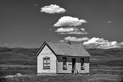 Photograph - The Little House B And W by Richard J Cassato