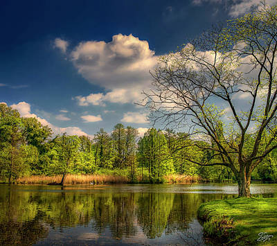Photograph - The Little Lake In Sans Souci by Endre Balogh