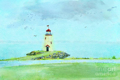 Digital Art - The Little Lighthouse That Could by Betty LaRue