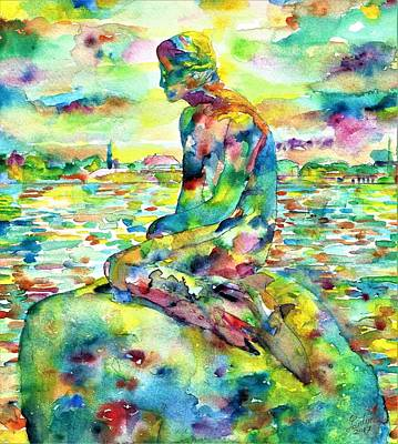 Painting - The Little Mermaid by Fabrizio Cassetta