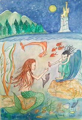 Painting - The Little Mermaid by Veronica Rickard