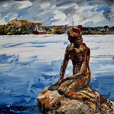 Painting - The Little Mermaid by Wendy Winbeckler