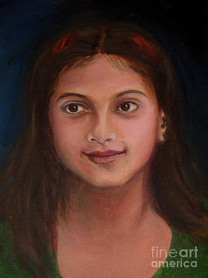 Neighbouring Painting - The Little Neighbour by Asha Sudhaker Shenoy