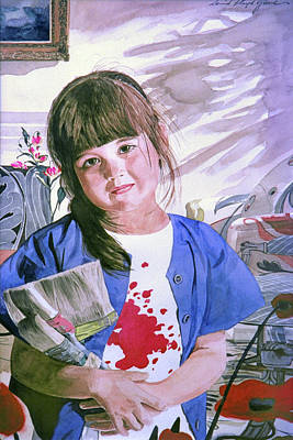 Painting - The Little Painter by David Lloyd Glover