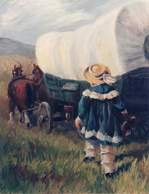 The Little Pioneer Western Art Print by Kim Corpany