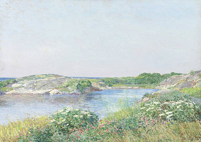 Summer Isles Painting - The Little Pond, Appledore by Childe Hassam