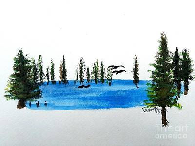 The Little Pond In The Forest Art Print by Scott D Van Osdol