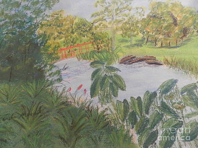 Painting - The Little Red Bridge by Pamela Meredith