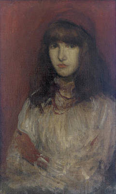 Whistler Painting - The Little Red Glove by James Abbott McNeill Whistler
