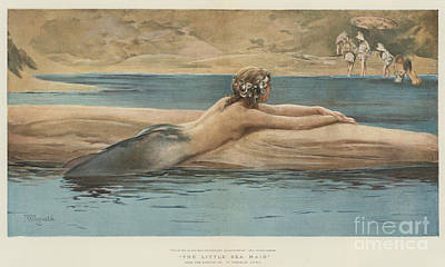 Little Mermaid Painting - The Little Sea Maid  by John Reinhard Weguelin