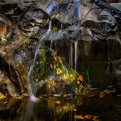 Photograph - The Little Waterfall Square  by Saija Lehtonen