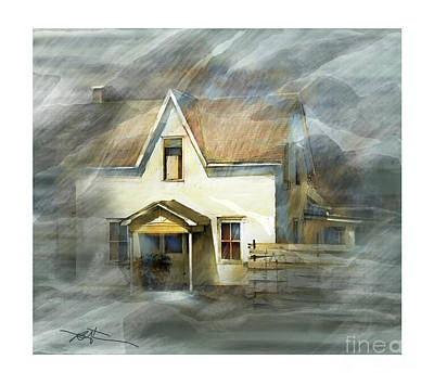 Abandoned Mixed Media - The Little White House On Hwy 6 by Bob Salo
