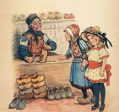 The Little Wooden Shoe Maker Art Print by Reynold Jay