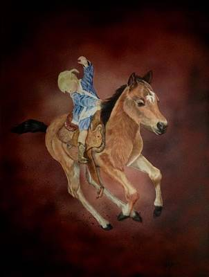Cowgirl Mixed Media - The Littlest Cowgirl by Michelle McAdams