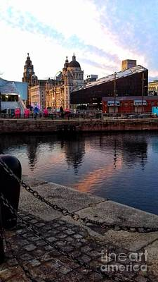 Photograph - The Liver Buildings From Albert Dock by Joan-Violet Stretch