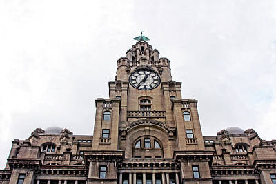 Photograph - The Liver Building - Liverpool With A Closeup Of One Of The Liver  by Doc Braham