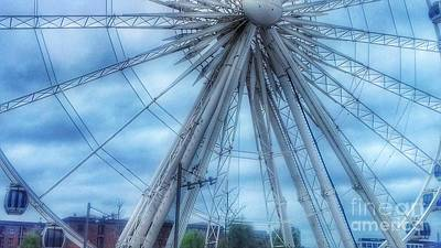 Photograph - The Liverpool Wheel In Blues 3 by Joan-Violet Stretch