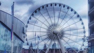 Photograph - The Liverpool Wheel In Blues by Joan-Violet Stretch