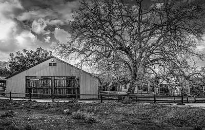 Photograph - The Livery Stable And Oak by Gene Parks