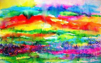 Painting - The Living Desert by Hazel Holland
