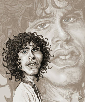 Digital Art - The Lizard King - Jim Morrison by Andre Koekemoer