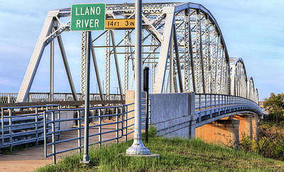 Photograph - The Llano Bridge by JC Findley