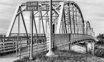 Photograph - The Llano River Bridge by JC Findley