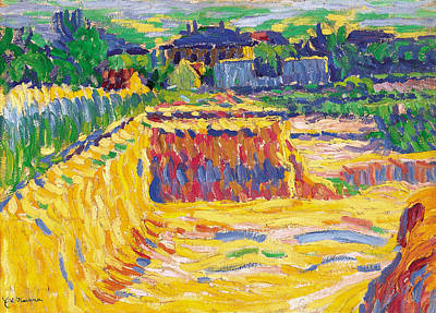 Field Painting - The Loam Pit by Ernst Ludwig Kirchner