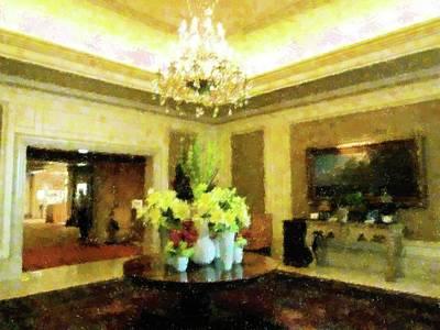 Upscale Mixed Media - The Lobby by Florene Welebny