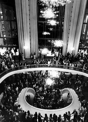 Ev-in Photograph - The Lobby Of The Metropolitan Opera by Everett