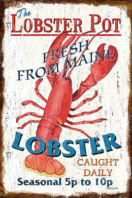 Graphic Design Painting - The Lobster Pot by Debbie DeWitt