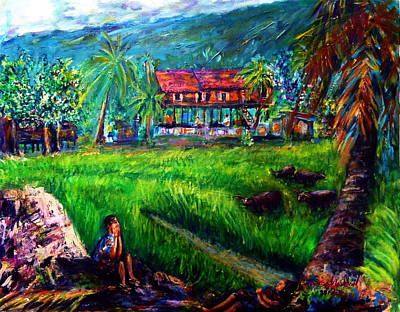 The Local People's Life Of Nakornnayok  Art Print