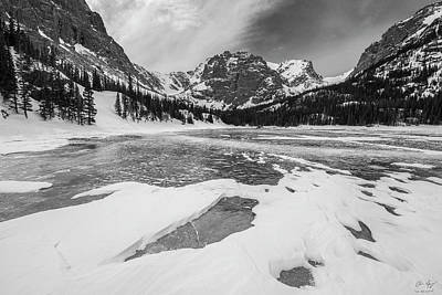 Photograph - The Loch Vale Black And White by Aaron Spong