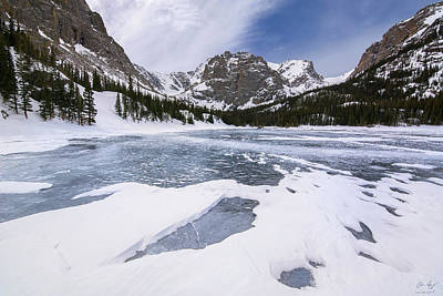 Photograph - The Loch Vale In Winter  by Aaron Spong