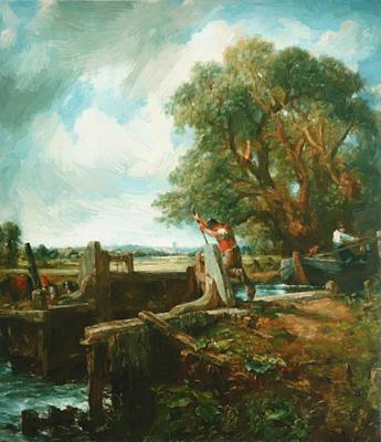 Painting - The Lock 1824 by Constable John