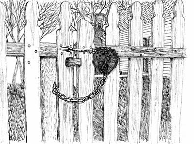 The Locked Gate Art Print