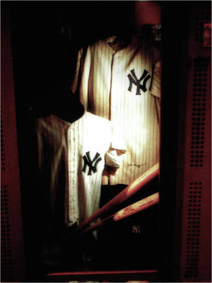 Mickey Mantle Wall Art - Photograph - The Locker  Mickey Mantle's And Joe Dimaggio's Locker by Iconic Images Art Gallery David Pucciarelli
