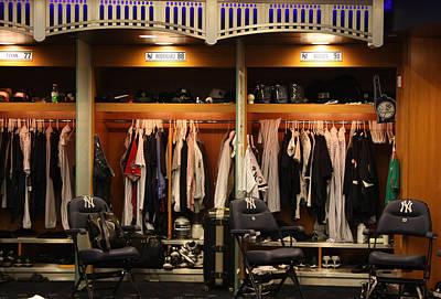 The Locker Room At Yankee Stadium Art Print by Michael Albright