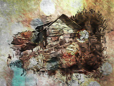 Photograph - The Log Cabin by Lenore Senior