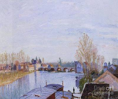 Laundry Painting - The Loing At Moret by MotionAge Designs